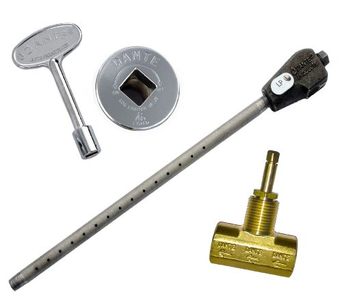 Dante Products LP.GVS.CR Universal Log Lighter Combo Kit with Liquid Propane Log Lighter, Straight 1/2-inch Globe Valve, Chrome Floor Plate and 3-Inch Key (Chrome Cast Kit compare prices)
