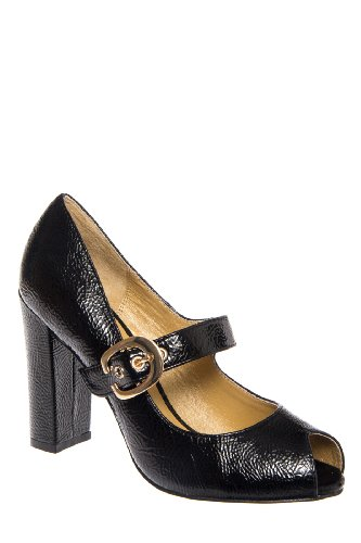 Chelsea Crew Helena Chunky High Heel Open Toe Mary Jane Pump