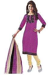 Gugaliya Women's Unstiched Superior Cotton SALWAR,KAMEEZ & DUPATTA Suit ( P503 )