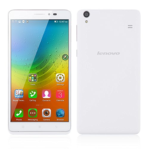 Lenovo A936 SIMフリースマートフォン(LTE対応)4GスマートフォーンTD-LTE FDD-LTE IPS MT6752●Android4.4搭載●6インチ/1.7GHzオクタコア/2GB RAM 8GB ROM 5MP 13MP/3G+デュアルSIM(ホワイト)並行輸入品