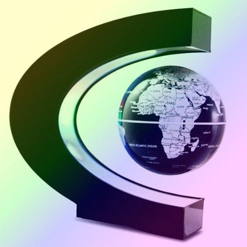 Vktech C Shape Magnetic Levitation Floating Globe With White Led Light