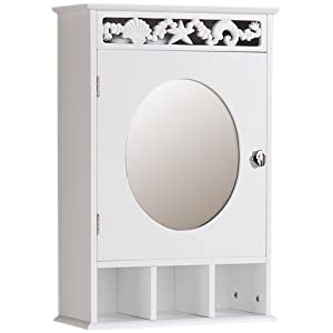 furniture solutions armoire murale pour salle de bains miroir frise corail blanc import grande. Black Bedroom Furniture Sets. Home Design Ideas