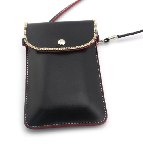 Big Dragonfly Universal Mobile Phone Bag & Pouch & Purse For Iphone 5/5S Iphone 4 /4S Samsung Galaxy Note 2/3 Samsung Galaxys5 S4 S3 And All Other Kind Mobile Phones (Black) front-767951