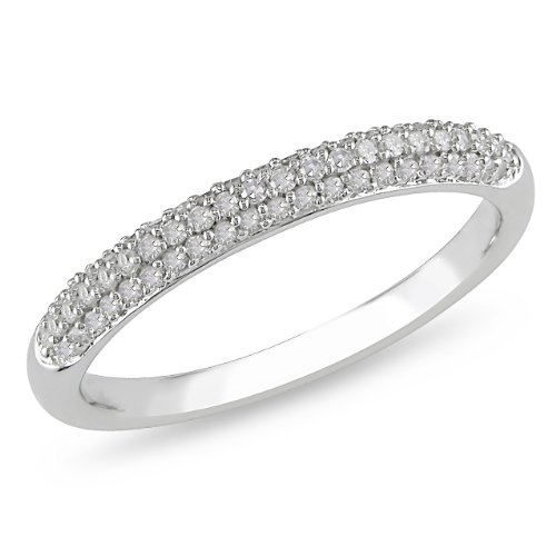 10K White Gold 1/4 CT TDW Round Diamond Eternity Ring (G-H, I2-I3)