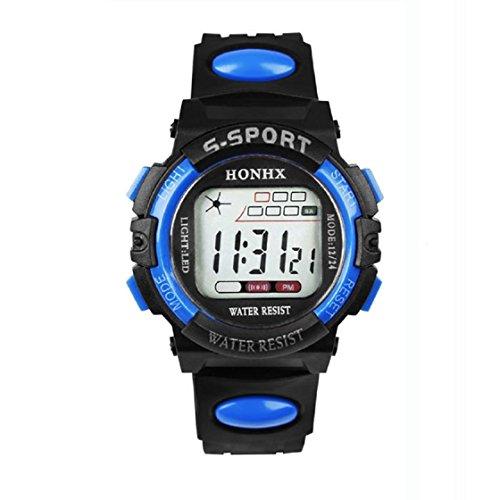 Aokdis (Tm) Hot Selling Boy'S Digital Led Quartz Alarm Date Sports Waterproof Wrist Watch New