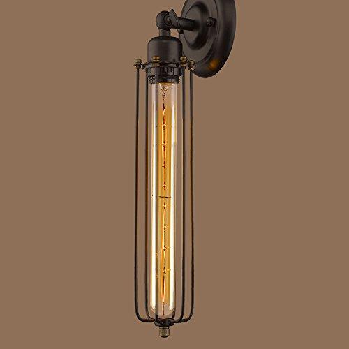 4 PACK #Long Filament# T30 (T10) Vintage Light Bulb, Flute Tungsten, Golden Tinted Glass, 300mm, 2500K Sunrise White, E26 Base for Pendant, Chandelier, Lantern, Wall Scone lighting 3
