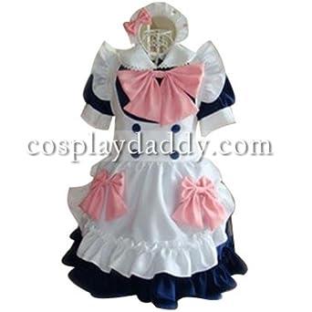 Japanese Gothic Lolita Girl Maid Uniform Cosplay Costume