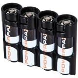 STORACELL Battery Caddie Slimline für 4 AA Batterien - Orange