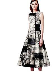 BMR Western Multicolour Printed Full Stitched Sexy Mini Dress Club Party Wear Frock Style Kurti