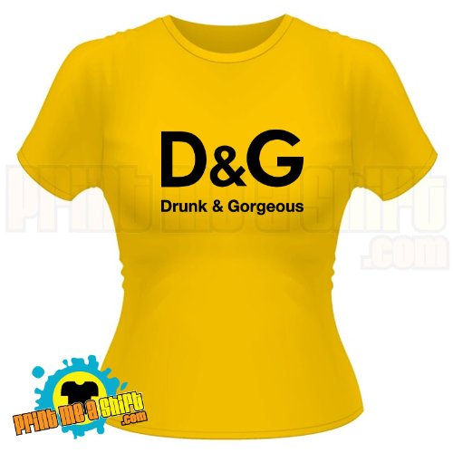 Ladies Drunk and gorgeous hen night t shirt