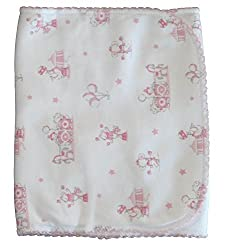Kissy Kissy Baby-Girls Infant Circus Stars Print Burp Pad-White With Pink-One Size
