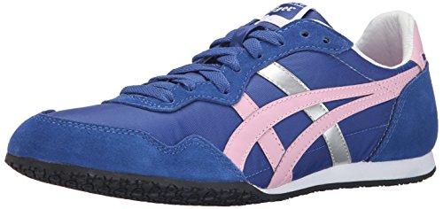 Onitsuka Tiger Women's Serrano Classic Running Shoe, Monaco Blue/Cam Pink, 9 M US