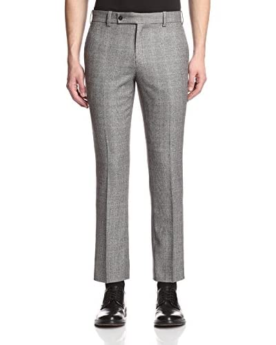 Brooklyn Tailors Men's Brushed Plaid Wool Dress Pant
