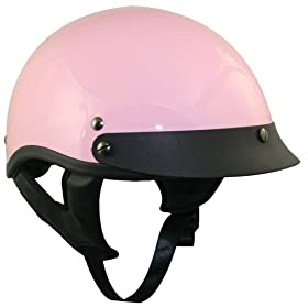 DOT Outlaw Solid Pink Women's Half Helmet - Size : Medium
