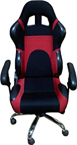 Computer Office Racing Bucket Seat Chair Red And Black Pr