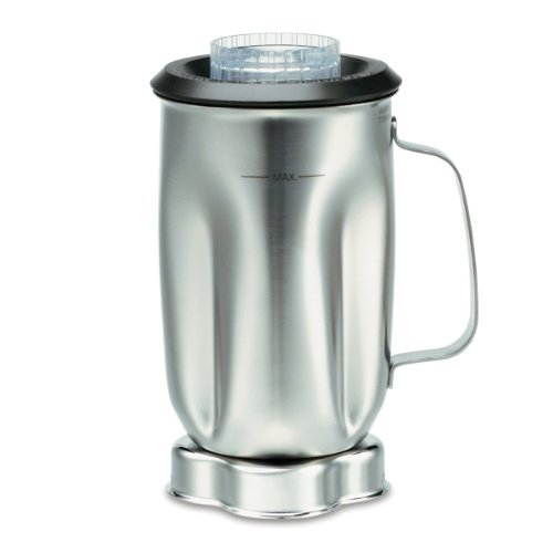 Waring Commercial Cac35 Complete Stainless Steel Container With Blade And Lid, 32-Ounce front-55126