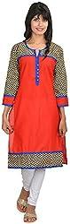 Goodyygoods Women's Cotton Regular Fit Kurti (GG 47, Multi, Large)