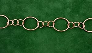 Chain By The Foot - PURE Copper Round Oval