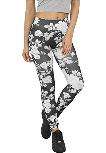 Urban Classics -  Leggings  - Donna wht/floral X-Small