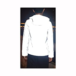 Fangfei® 3m Scotchlite Reflective Coat Hooded Windbreaker Fashion Jacket (M)