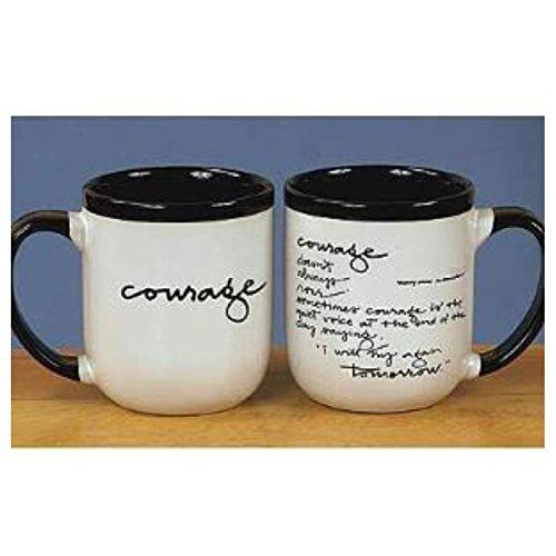 Abbey Press Courage Black/White Mug - Inspiration Faith Blessing Spirit 45612-Abbey