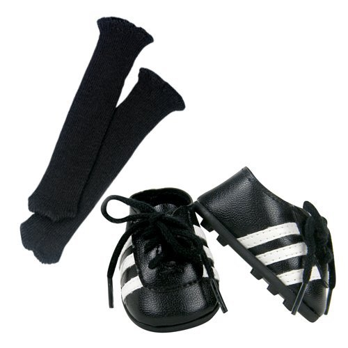18 Inch Doll Soccer Cleats & Socks 2 Pc. Set Fits 18 Inch American Girl Dolls & More! Doll Soccer Shoes Set of Doll Socks & Cleats - 1