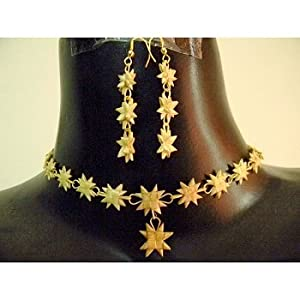 Bamboo jewelry set- star