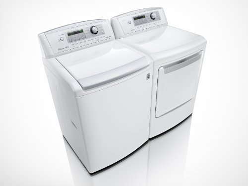 Lg Ultra-Large Capacity High Efficiency Top Load Laundry Set With Gas Dryer (Wt4970Cw_Dlg4971W)