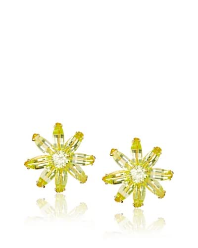 CZ by Kenneth Jay Lane Floral Stud Earrings
