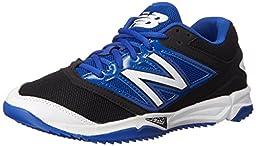 New Balance Men\'s T4040V3 Turf Baseball Shoe, Black/Blue, 9.5 D US