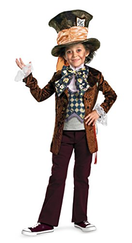 Boys Mad Hatter Deluxe Kids Child Fancy Dress Party Halloween Costume