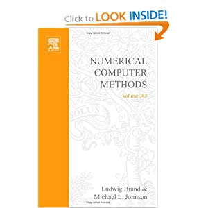 Numerical Computer Methods Ludwig Brand, Michael L. Johnson
