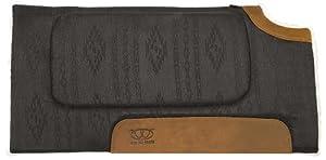 Weaver Leather All Purpose Bronco Pattern Cut Back Saddle Pad, Black, 32 x 32-Inch