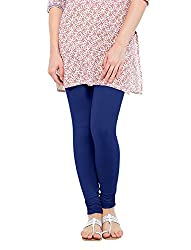 Perfect Collections Women Cotton Legging (Color: Blue, Size: Free Size)