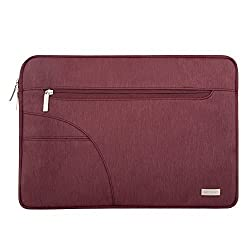 Laptop Sleeve, Mosiso Polyester Case Bag Cover for 12.9 iPad Pro / 13-13.3 Inch Laptop / Notebook Computer / MacBook Air / MacBook Pro, Wine Red