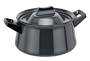 Futura Hard Anodised Handi Sauce Pan, 3 Litres, Black