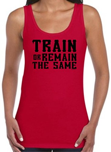 Train Or Remain The Same Juniors Tank Top 2Xl Cherry Red