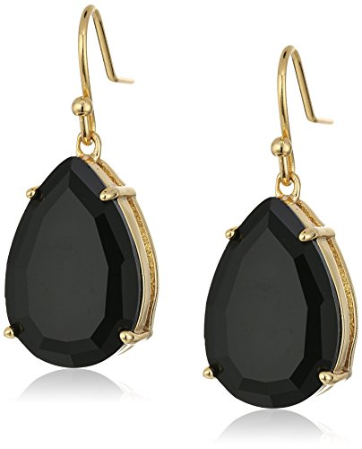 t-tahari-gold-jet-tear-drop-earrings