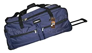"31"" Jeep Wheeled Holdall Holiday Bag Trolley Case - PH543 NAVY"