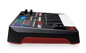 Piano Akai Professional MPK225  de 25 teclas pad de batería, entrada MIDI a USB y controlador de rendimiento.