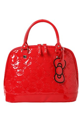 Hello Kitty – Red Patent Embossed Bowler Bag