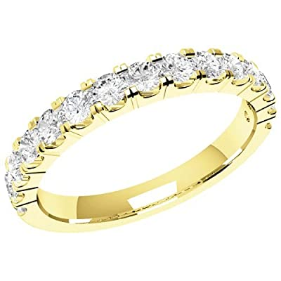 An elegant diamond set ladies wedding ring in 18 ct. yellow gold (PDW090Y-0.52-G-VS2)