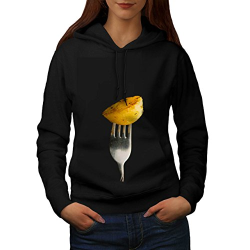 Roast Cooked Potatoe Photography Women NEW Black XL Hoodie | Wellcoda (Roast Potatoes Recipe compare prices)