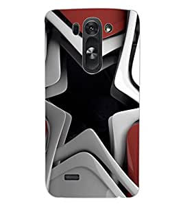 ColourCraft Creative Star Image Design Back Case Cover for LG G3 BEAT