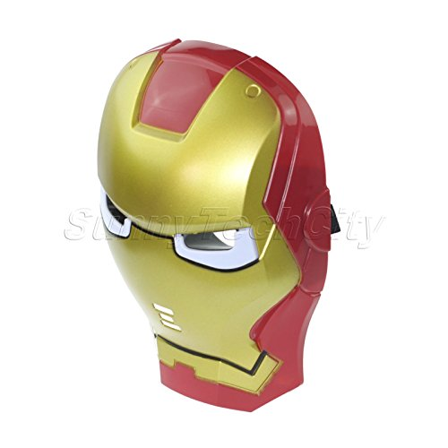 Iron Man LED Light Eye Face Mask Masquerade Costume Cosplay Halloween Party (Best Ironman Costume)
