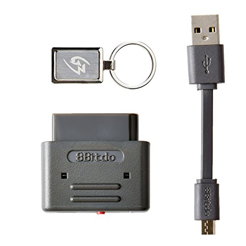 Gam3Gear 8Bitdo PS3 Dualshock 3 PS4 Dualshock 4 Wiimote Wii U Pro Controller Bluetooth Wireless Retro Receiver for SNES SFC with Keychain (Wii U Pro Controller Snes compare prices)