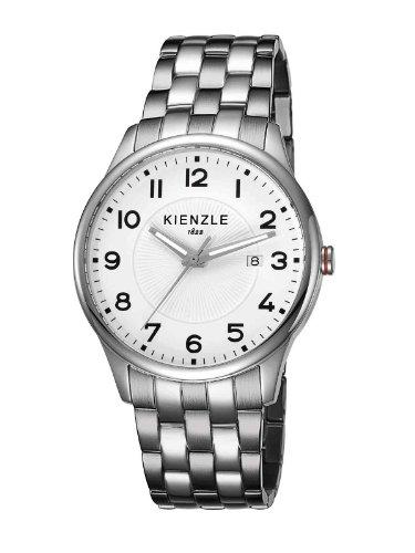 Kienzle - K3043012062-00058 - Montre Mixte - Quartz Analogique - Bracelet Acier Inoxydable Blanc