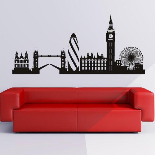 London Skyline Decorative Wall Art Stickers Decal
