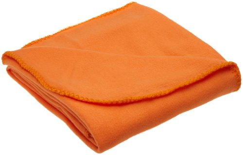 Orange Fleece Throw
