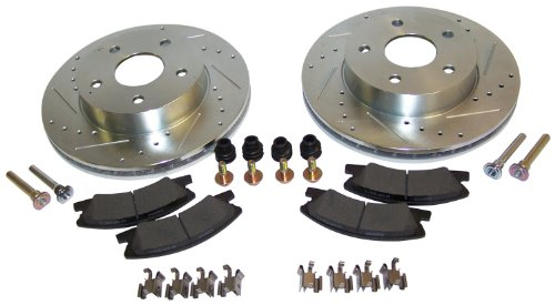 Performance Brake Kit 1999-2004 WJ Grand Cherokeew/ Akebono Calipers; Complete Performance Front Brake Kit; Including 2 Drilled & Slotted Rotors, Pad Set and All Hardware 52098672DSKL